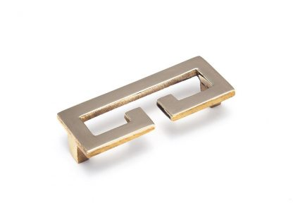Greek Key Pull in Polished Unlacquered Brass
