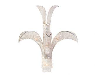 High Art Deco crystal sconce by Bagues Paris