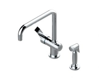 French Transitional Kitchen Faucet with Side Spray
