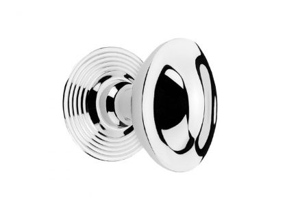 Domed Oval Door Knob with Deco Round Rosette