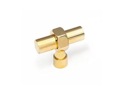 "Hex Toggle Knob - 1/2"" Diameter Brass Rod"