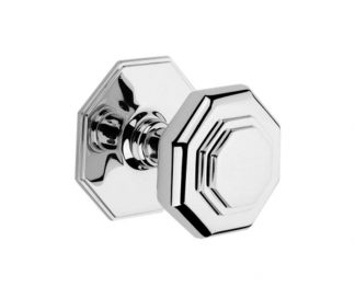 Derby Knob with Stepped Octagon Rosette