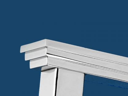 Stepped Edge Pillar Lever with Round Rosette