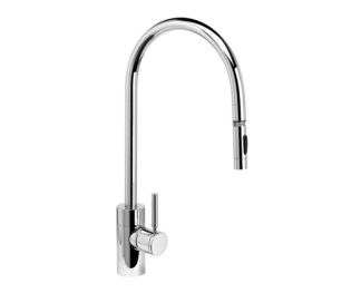 Contemporary Extended Reach PLP Pulldown Faucet