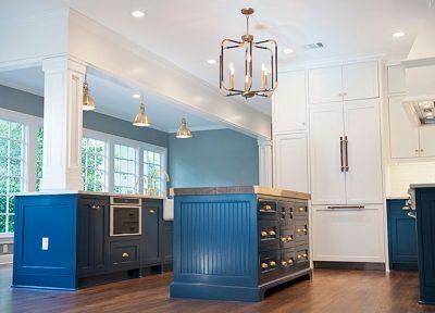 Alexander Marchant, Stacy Whitworth, blue kitchen, messer design, austin, Pemberton Heights