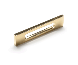 The Modern Slot Pull, solid brass