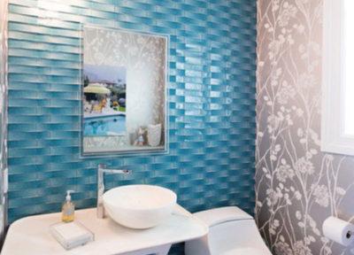 Tarrytown Powder Bath, Kreoo, Nabhi Bowl, Elliott Interiors