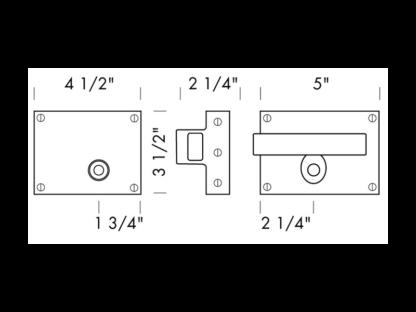 Sun Valley Bronze Slide Bar Latch Privacy Set, door lever, made in USA