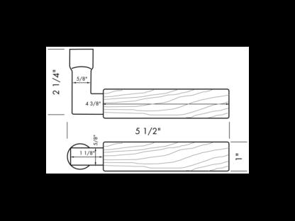 Sun Valley Bronze Tube Wood Handle Lever, door lever, made in USA