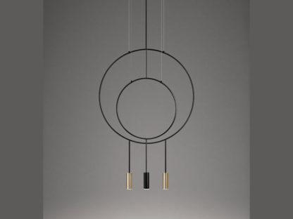 Estiluz Revolta Multi-Light Suspension Pendant, Mixed Metal