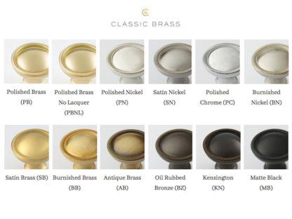 Classic Brass, classic brass finishes, solid brass, brass hardware