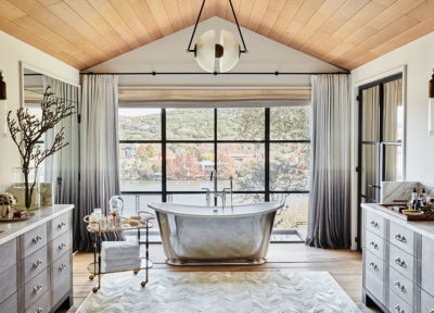 Ackles, Architecture Digest, Waterworks, Master Bath Design, Paul Lamb Architects, Fern Santini