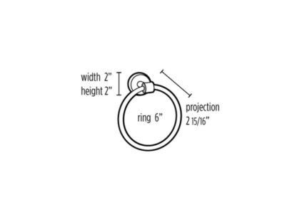 Acrylic Contemporary Towel Ring, Alno Acrylic Contemporary Towel Ring, Brass Bath Accessories, Acrylic Bath Accessories