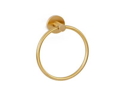 Alno Contemporary Towel Ring, Contemporary Towel Ring, Alno, Towel Ring, Bath Accessories, Satin Brass