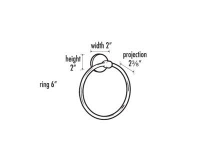 Alno Contemporary Towel Ring, Contemporary Towel Ring, Alno, Towel Ring, Bath Accessories