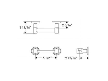 Rocky Mountain Hardware Tempo Horizontal Toilet Paper Holder