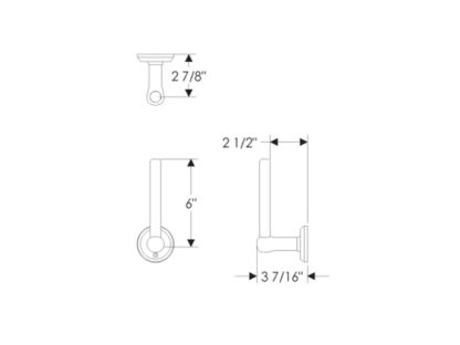 Rocky Mountain Hardware Tempo Vertical Toilet Paper Holder